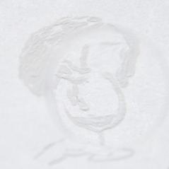 Croquis, acrylique blanche sur papier, février 2010.