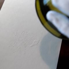 Dispositif de lecture, exposé dans le cadre d'Un vignoble, Une émotion, au château Pape Clément à Pessac, 2011.