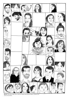 Aléa #6, pointe tubulaire et encre de Chine sur papier, 29,7 x 21 cm, novembre 2011.