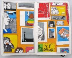 Double page issue de Quelque chose se profile, 21 x 13,5 cm, commencé en octobre 2010.
