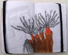 Double page issue d'Insomnies colorées #1, 10 x 6,5 cm, juillet 2010.
