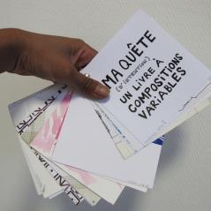 Maquette, techniques mixtes sur papiers divers, 13 x 13 cm, août 2011.