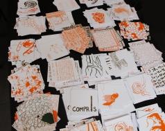 30 images sérigraphiées, 13 x 13 cm, 13 septembre 2011.