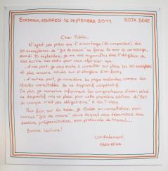 Nota bene, vendredi 16 septembre 2011.