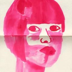 Fille, encre sur papier, 21 x 15 cm, 2011