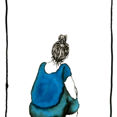 Oaksapce #31, encre et calame sur papier, 21 x 14,8 cm, 2012