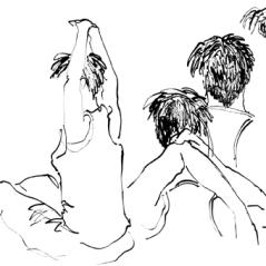 Oakspace #6, encre et calame sur papier, 29,7 x 42 cm, 2012