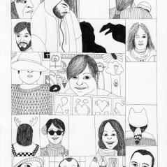 Aléa #7, stylo à pointe tubulaire et encre de Chine sur papier, 29,7 x 21 cm, mars 2014