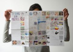 Recto, impression offset sur papier Couché satiné 135 g/m2, 40 x 60 cm déplié, 2013