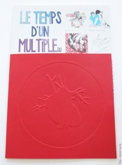 Le Temps d'un Multiple(s), 30 exemplaires numérotés, signés et accompagnés d'un gaufrage sur papier Canson 300 g/m2, 20 x 20 cm, 2013