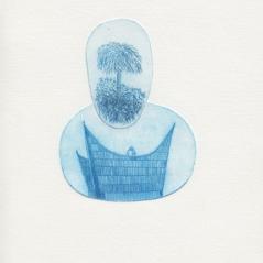 Mirage e.a. 1/1, 2013, pointe sèche sur rhénalon, matrice 13 x 9 cm, papier 21 x 15 cm