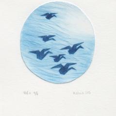 Vol 1 e.a. 1/4, 2013, pointe sèche sur rhénalon