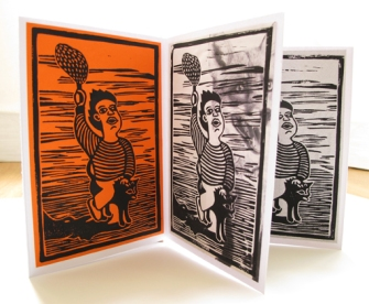 Linogravures sur papiers divers, 15 x 10 cm, 2014