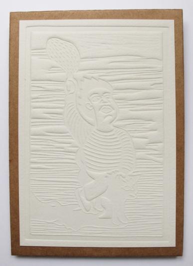 Couverture en gaufrage sur papier aquarelle 300 g/m2, 15 x 10 cm